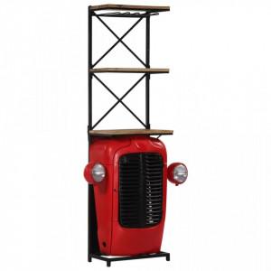 Dulap vinuri design tractor 49x32x183cm lemn masiv de mango - V247871V
