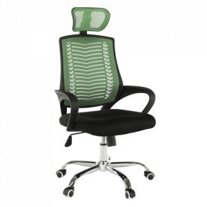 Fotoliu de birou, verde/negru/crom, IMELA TYP 1