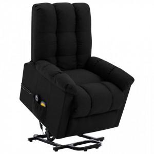 Fotoliu de masaj rabatabil vertical, negru, material textil - V321392V