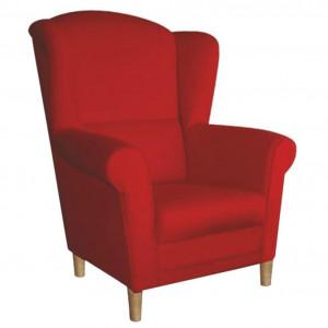 Fotoliu, textil roşu, CHARLOT