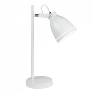 Lampă de masă, albă / metalică, AIDEN TIP 1