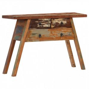 Masa consola, 110 x 30 x 75 cm, lemn masiv reciclat - V247577V