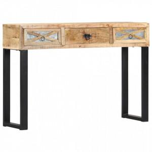 Masa consola, 110 x 30 x 76 cm, lemn masiv de mango - V282761V