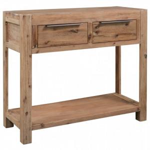 Masa consola, 82 x 33 x 73 cm, lemn masiv de acacia - V245684V