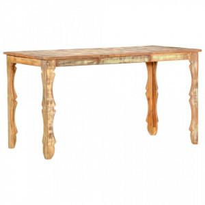 Masa de bucatarie, 140 x 70 x 76 cm, lemn masiv reciclat - V286489V