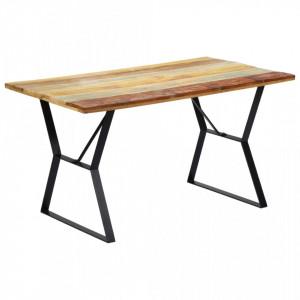 Masa de bucatarie, 140 x 80 x 76 cm, lemn masiv reciclat - V247948V