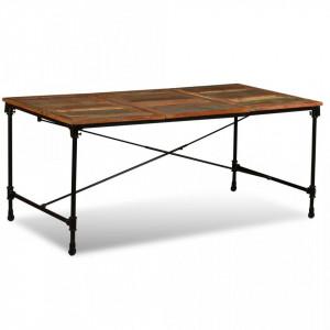 Masa de bucatarie din lemn masiv reciclat, 180 cm - V243995V