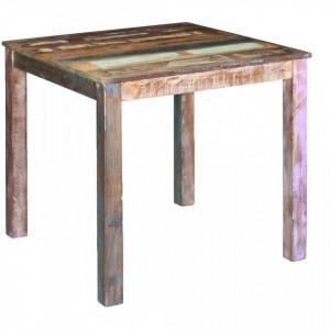 Masa de bucatarie din lemn masiv reciclat, 80 x 82 x 76 cm - V243452V