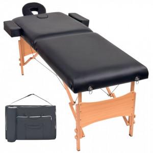 Masa de masaj pliabila cu 2 zone, 10 cm grosime, Negru - V110151V