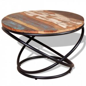 Masuta de cafea din lemn masiv reciclat 60 x 60 x 40 cm - V244015V