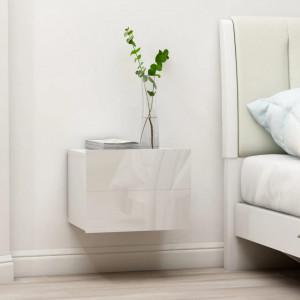 Noptiera, alb extralucios, 40 x 30 x 30 cm, PAL - V801065V