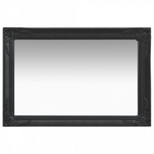 Oglinda de perete in stil baroc, negru, 60 x 40 cm - V320331V