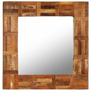 Oglinda de perete, lemn masiv reciclat, 60 x 60 cm - V246417V