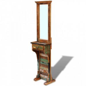 Oglinda pentru hol, lemn reciclat solid, 47 x 23 x 180 cm - V243330V