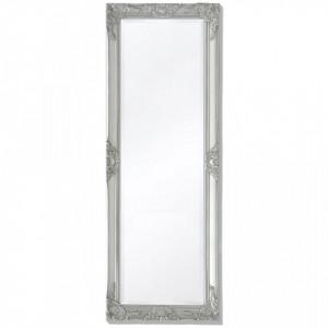 Oglinda verticala in stil baroc 140 x 50 cm argintiu - V243689V