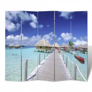 Paravan de camera pliabil, 200 x 170 cm, plaja - V240478V