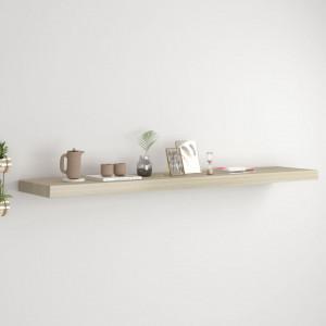 Raft de perete suspendat, stejar, 120x23,5x3,8 cm, MDF - V323883V