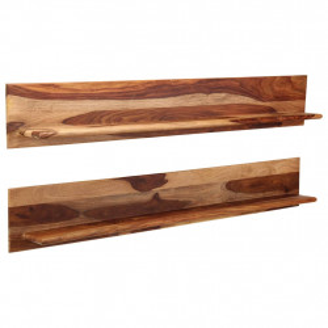 Rafturi de perete, 2 buc., 169x26x20cm, lemn masiv de sheesham - V247932V