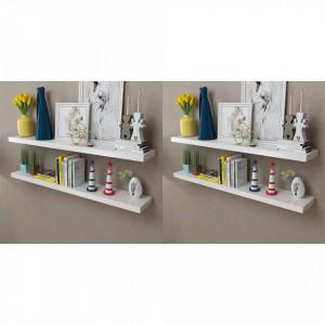 Rafturi de perete, 4 buc., alb, 120 cm - V276000V