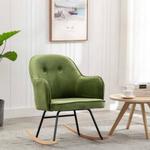 Scaun balansoar, verde deschis, catifea - V289521V