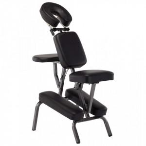 Scaun de masaj, negru, 122x81x48 cm, piele ecologica - V110179V