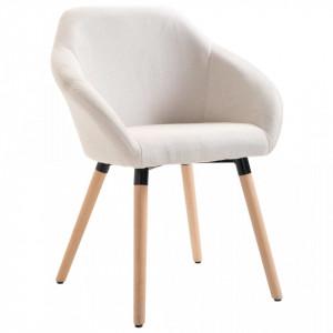 Scaun de sufragerie, crem, material textil - V283451V