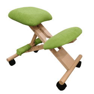 Scaun genunchi ergonomic, verde/ fag, GROCO