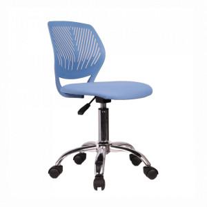 Scaun rotativ, albastru/crom, SELVA