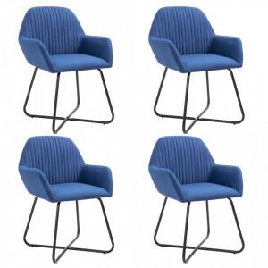 Scaune de bucatarie, 4 buc., albastru, material textil - V277102V