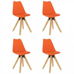 Scaune de bucatarie, 4 buc., portocaliu - V324240V