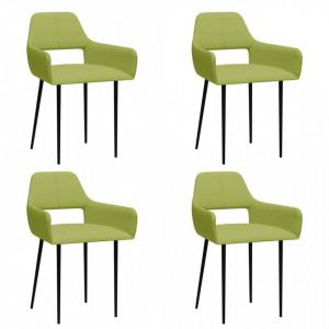 Scaune de bucatarie, 4 buc., verde, material textil - V3057538V