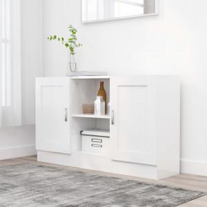 Servanta, alb extralucios, 120 x 30,5 x 70 cm, PAL - V802783V