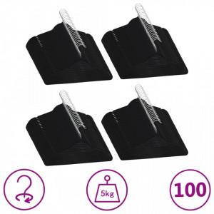 Set de umerase anti-alunecare, 100 buc., negru, catifea - V289922V