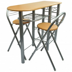 Set mobilier bar din lemn - V240096V