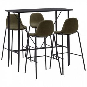 Set mobilier de bar, 5 piese, maro, material textil - V279869V