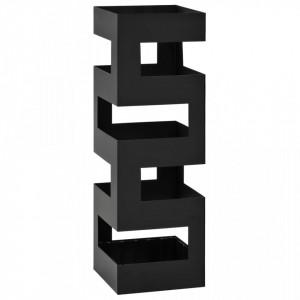 Suport de umbrele, model Tetris, otel, negru - V246794V