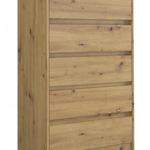 TECOAR104 - Comoda 70 x 43 x 124 cm, Stejar Artisan