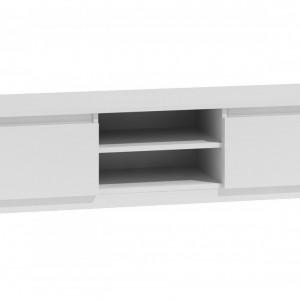 TECOTVA108 - Comoda TV 140 x 40 x 36 cm, Alb-Mat