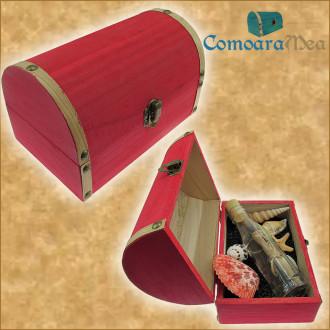 Cadou pentru Diriginta personalizat mesaj in sticla in cufar mare rosu