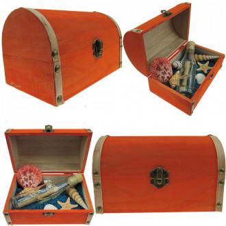 Cadou pentru Parinti personalizat mesaj in sticla in cufar mare portocaliu