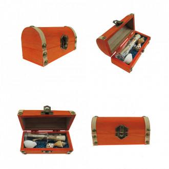 Cadou pentru Scorpion personalizat mesaj in sticla in cufar mic portocaliu