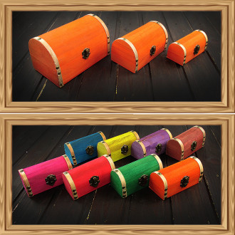 Cadou pentru Educatoare personalizat mesaj in sticla in cufar mic portocaliu