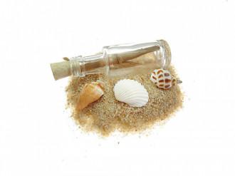 Cadou pentru Onomastica personalizat mesaj in sticla in cufar mic maro