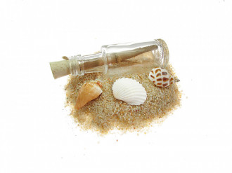 Cadou pentru Sef personalizat mesaj in sticla in cufar mic maro