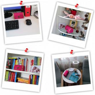 Cadou pentru Aniversare personalizat mesaj in sticla in cufar mediu roz
