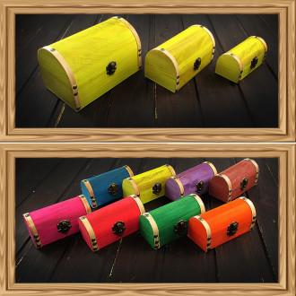 Cadou pentru Soacra personalizat mesaj in sticla in cufar mic galben