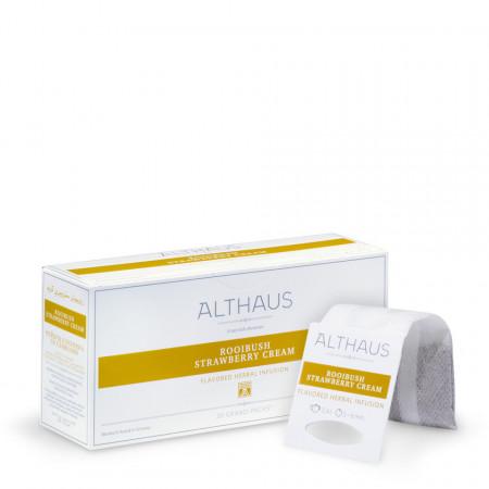 Althaus Grand Pack Rooibush Strawberry Cream: Rooibos Aromat, T-Bag, 20 plicuri in cutie, 4g in plic