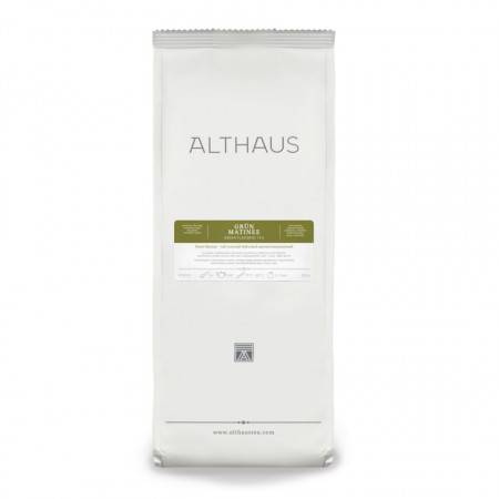 Althaus Loose Tea Grun Matinee: ceai verde aromat, ceai vrac, punga 250g