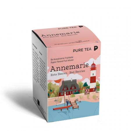 Pure Tea Bio Pyra Annemarie Red Berries - infuzie de fructe, in plic transparent, 3 gr/plic, 15 plicuri in cutie