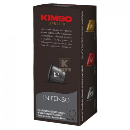 Capsule cafea Kimbo Intenso compatibil Nespresso, 10 capsule, 58 g, note de ciocolata amaruie